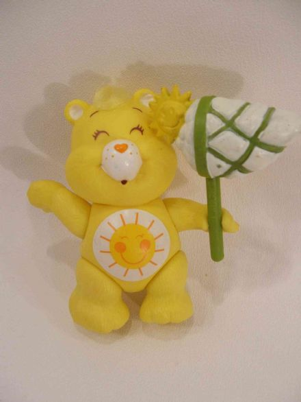 VINTAGE FUNSHINE CARE BEARS POSEABLE WITH ACCESSORY